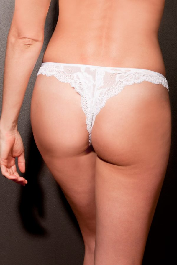 LOVE & LACE WHITE LUCY THONGS-363