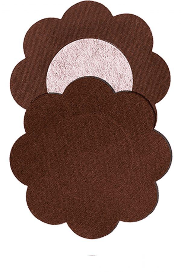 Bye Bra - Silk Nipple Covers (4 pairs) - DARK-1853